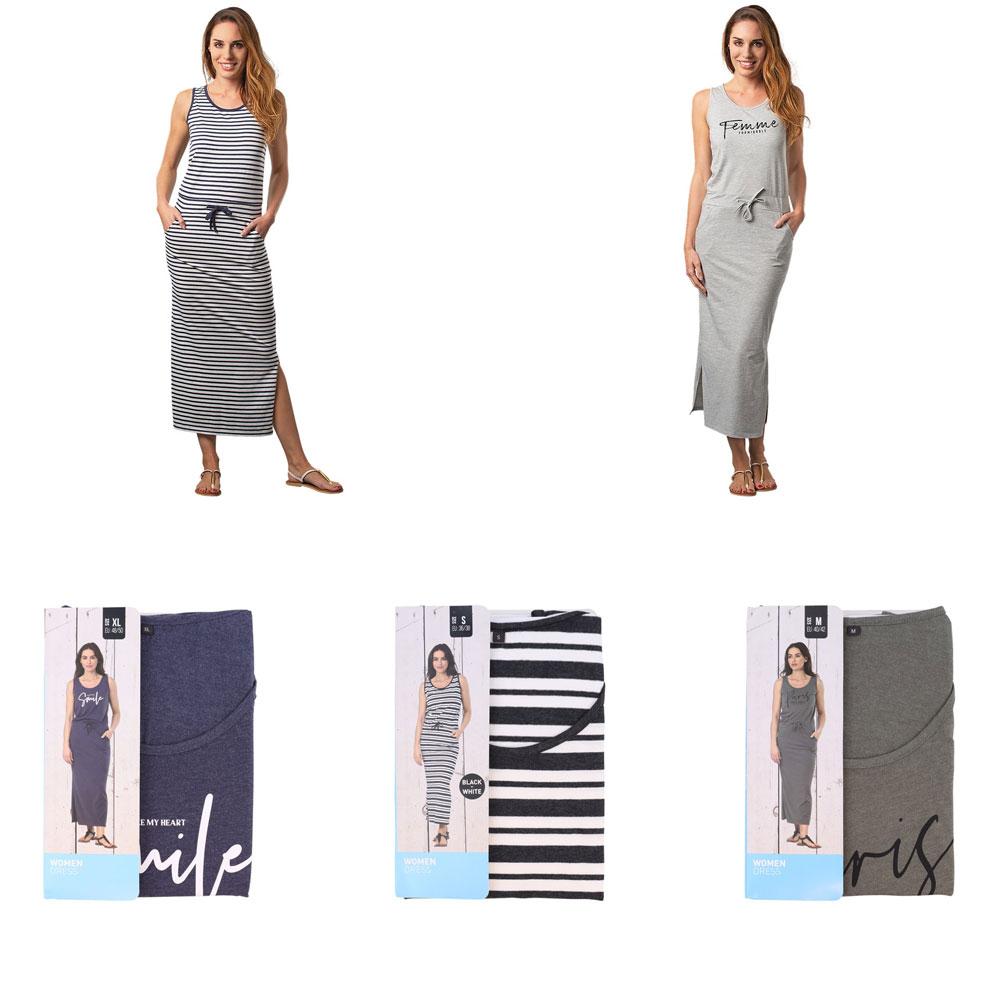 Maxi-jurk · diverse kleuren · maten S t/m XL