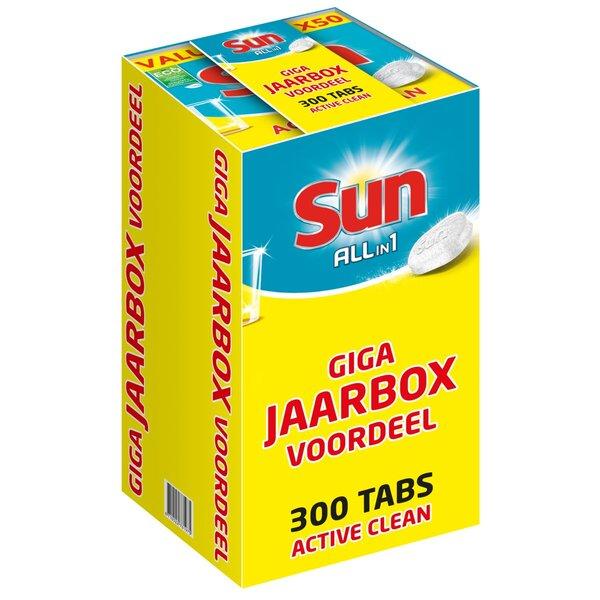 Sun All-in-1 Active Clean Vaatwastabletten Jaarbox