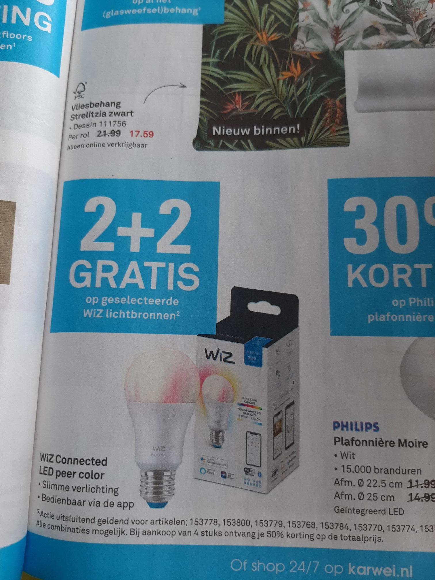 2+2 Gratis Op Wiz Smart Lampen Bij De Karwei. (05-13/05-16)