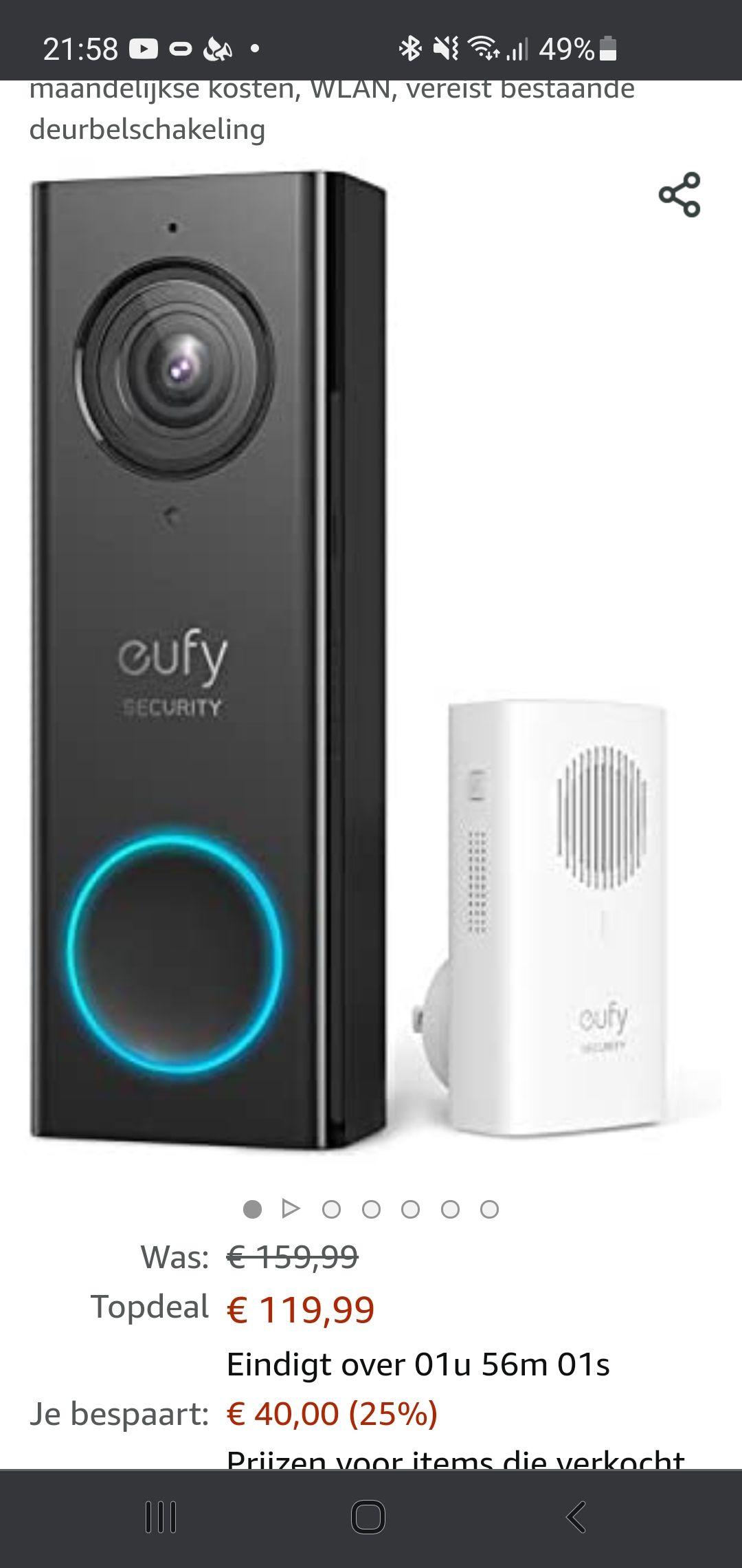 eufy Beveiligde bedrade video-deurbel.