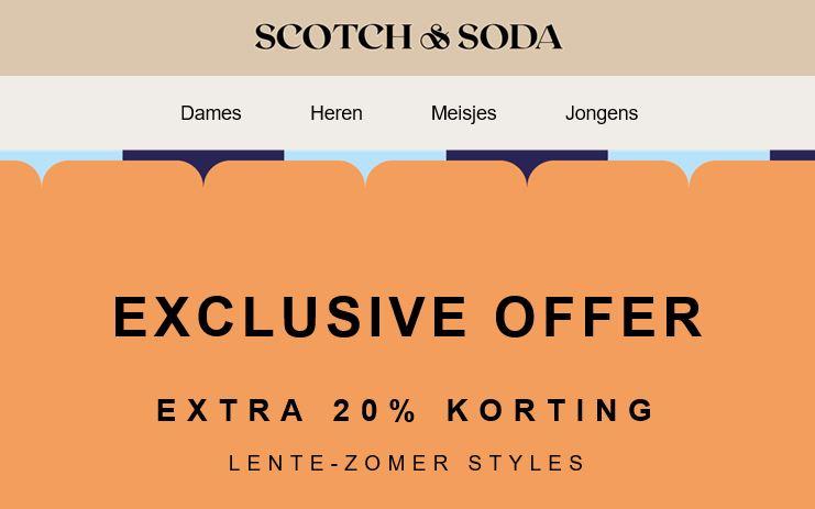 SALE + 20% EXTRA @ Scotch & Soda