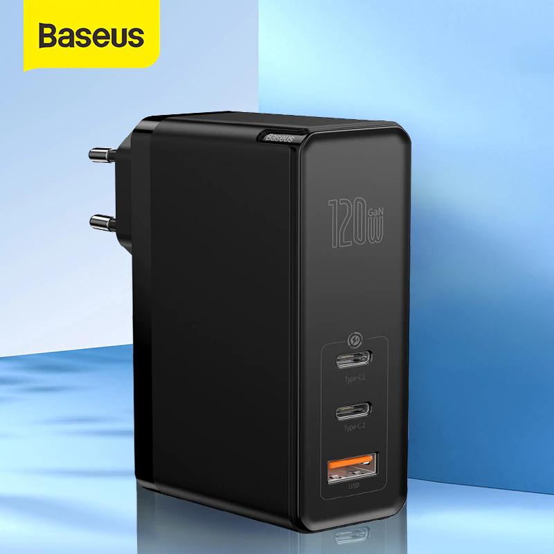 Baseus 120W GaN USB-C Charger + 100W Cable