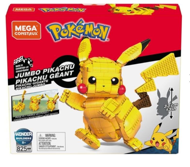 Mega Construx - Pokemon Jumbo Pikachu 32 cm bij Amazon.nl