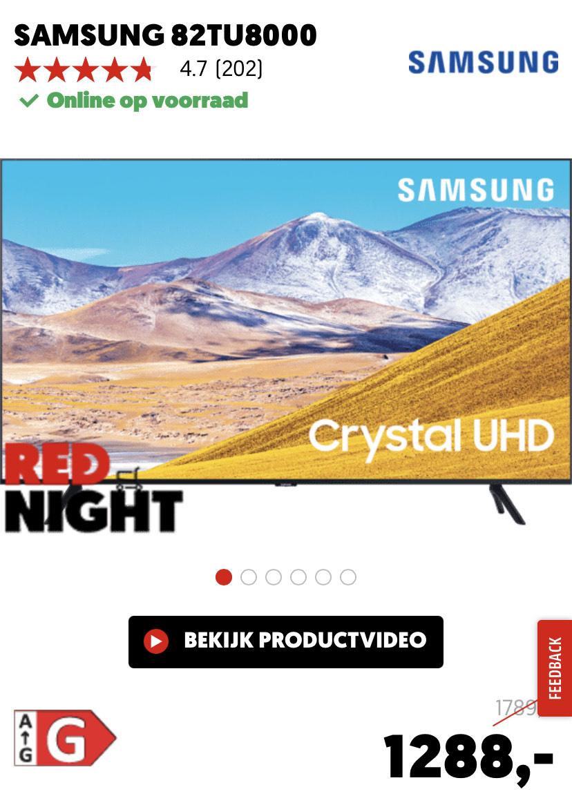 SAMSUNG 82TU8000 82 inch tv @ mediamarkt red deal tot morgen 10:00