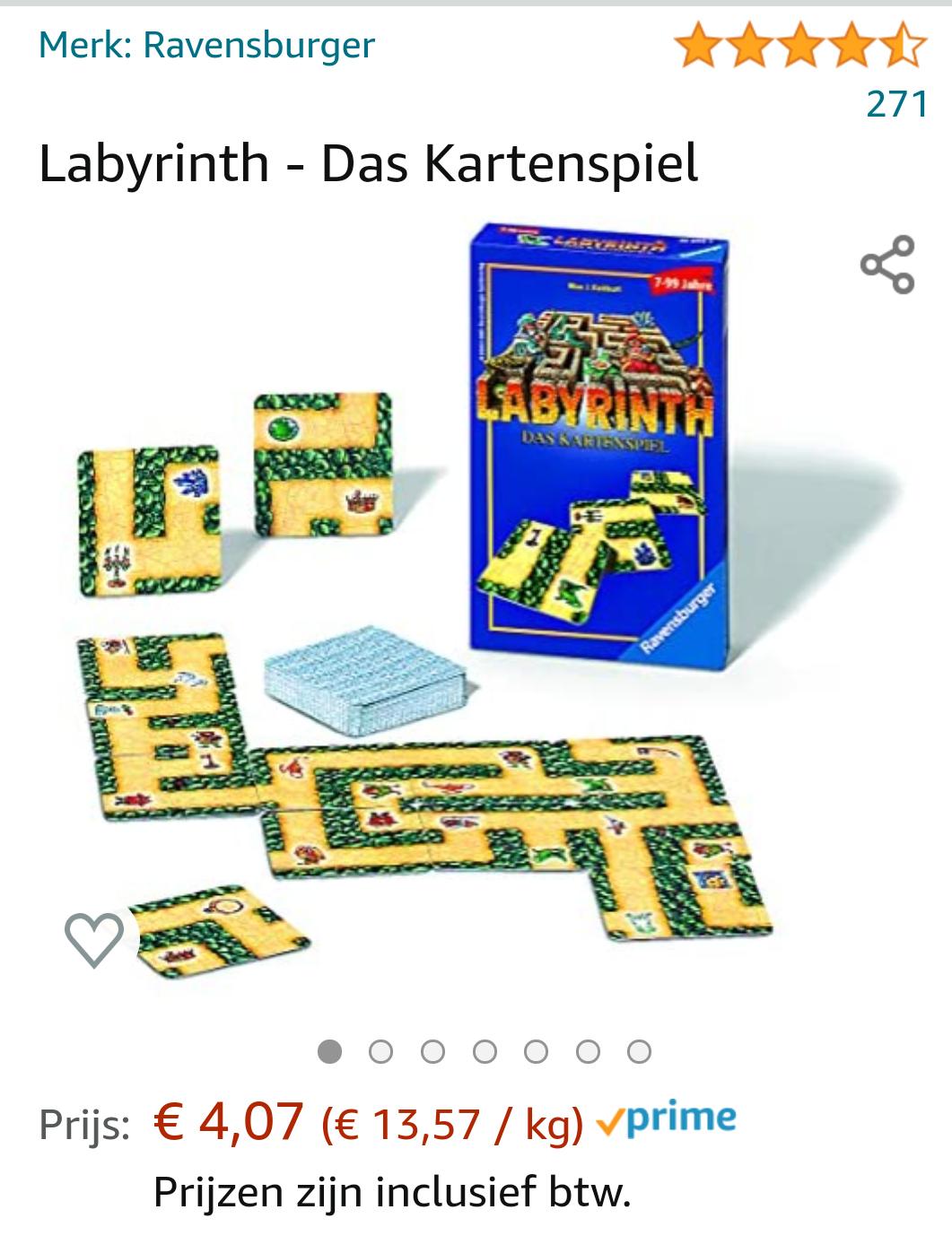 Labyrinth Het kaartenspel