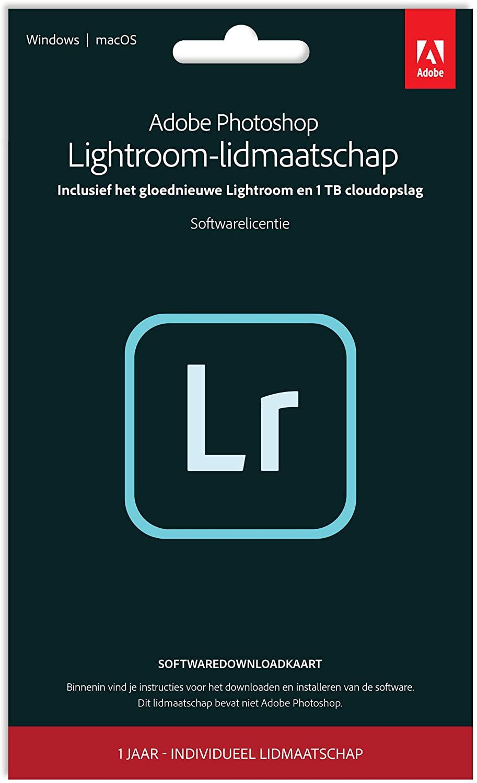 Adobe Lightroom 1TB | 1 Jaar | PC/Mac | Key Card & Download