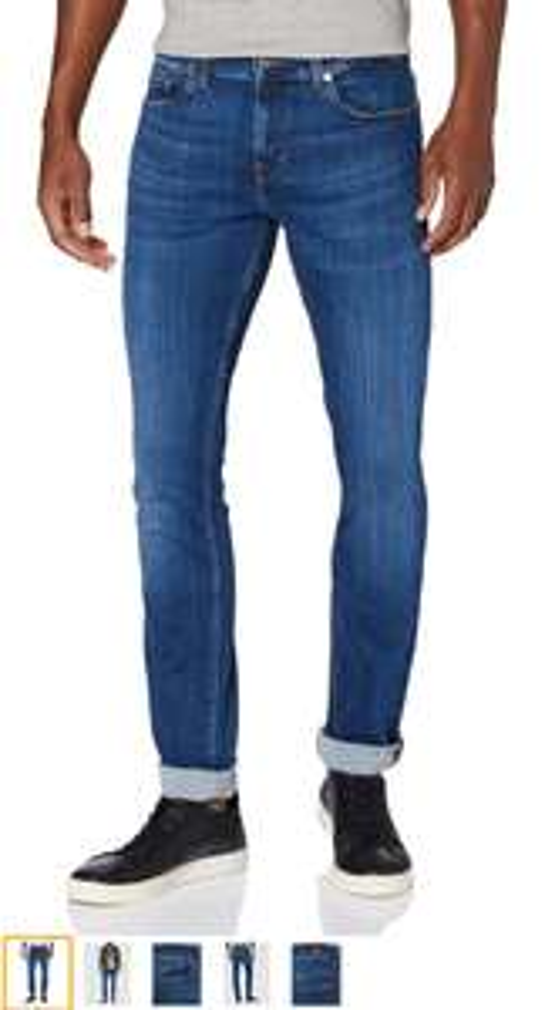 7 for all mankind heren jeans ronnie streth tek uniform blue