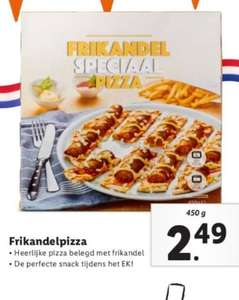 Frikandel Speciaal Pizza @ Lidl