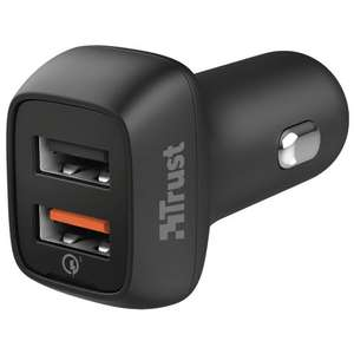 Trust Qmax Snelle Autolader Dual USB 30W @ Belsimpel