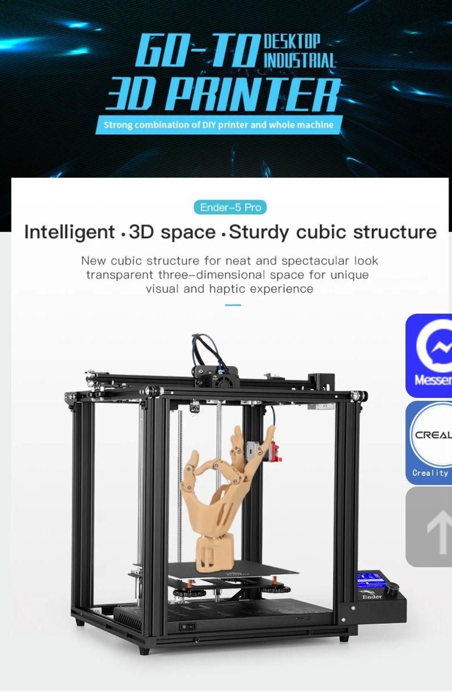 Ender 5 Pro 3D Printer Silent Board Pre-installed Eu shipping