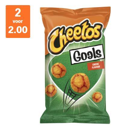 Cheetos Goals, 2 zakken voor € 2