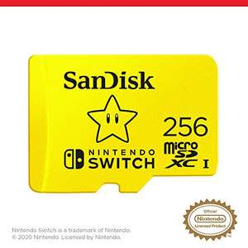 SanDisk microSDXC UHS-I kaart voor Nintendo Switch 256GB