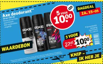 Axe Deodorant 5 voor €10