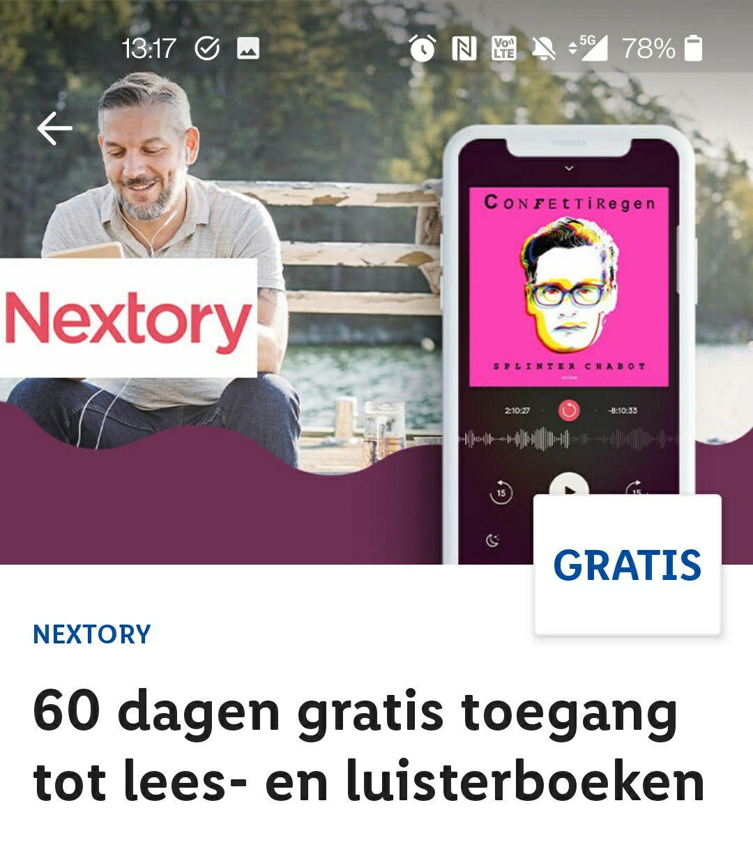 Twee maanden gratis Nextory (nieuwe klanten)