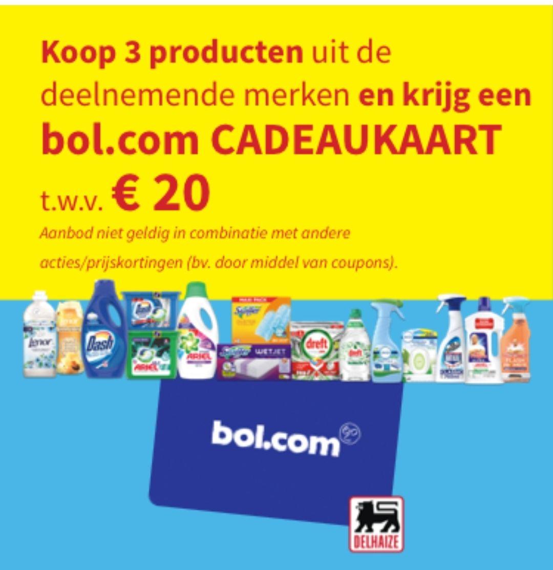 BE Bol 20 euro bon na aankoop 3 producten Delhaize