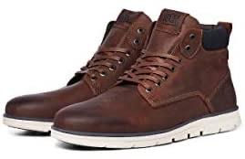 Jack & Jones jrtubar leather brandy junior sneakers