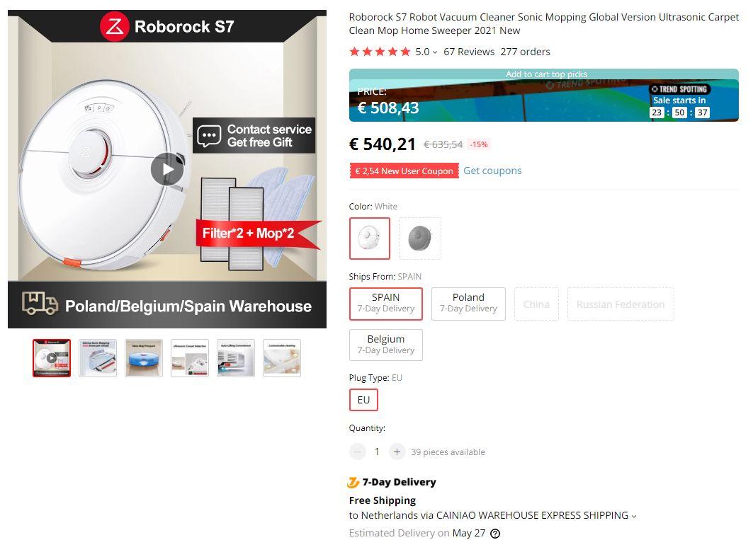 Roborock S7 AliExpress big discounts