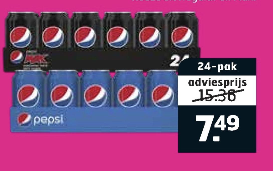 Tray Pepsi of Pepsi Max 7,49 Trekpleister