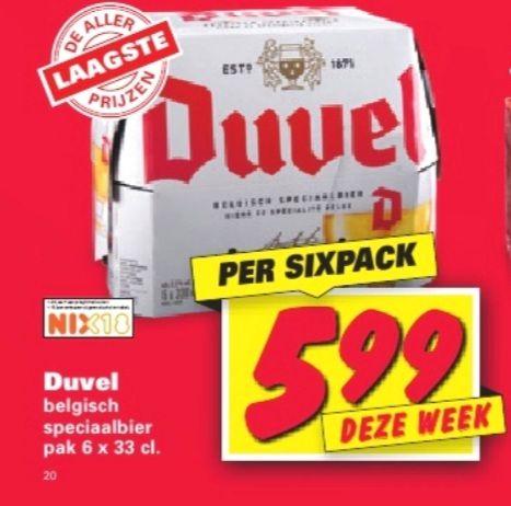 Sixpack Duvel bij Nettorama voor €5,99.