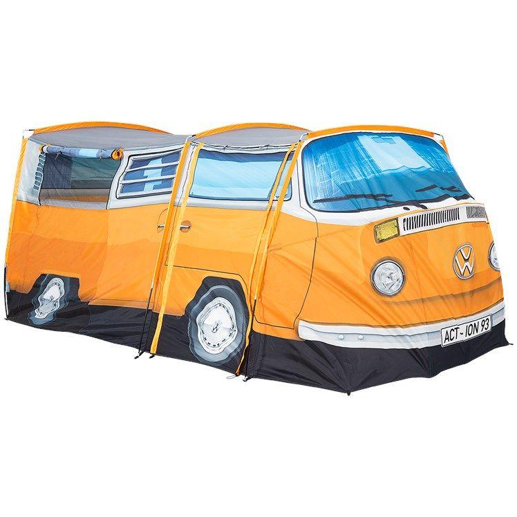 Action: Volkswagen bus tent