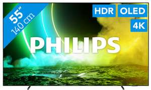 Philips 55OLED705/12 OLED tv (Ambilight) voor €999 @ Coolblue