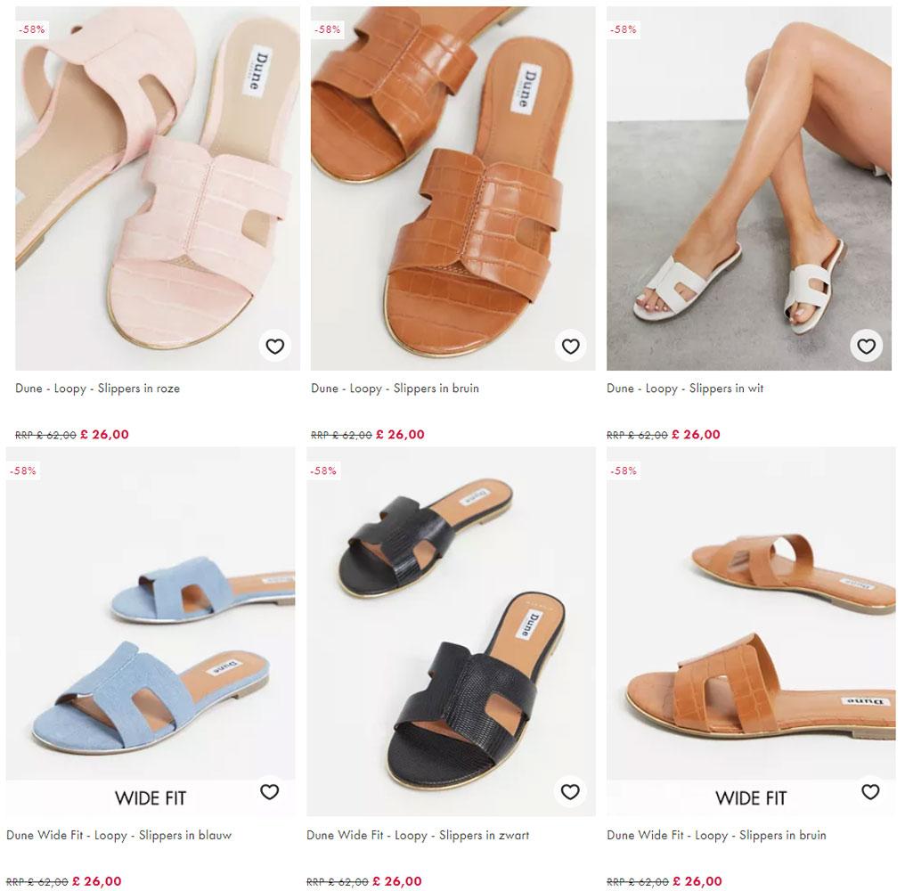 Dune Loopy slippers [waren €72]