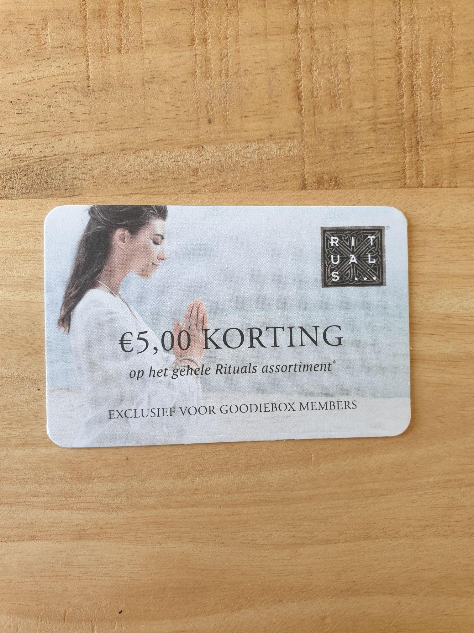 €5 korting bij Rituals, bij een minimale besteding van €35