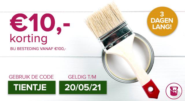 Verfwinkel.nl €10,- korting bij besteding vanaf €100,-