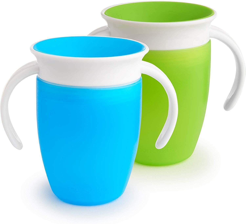 Twee Munchkin 360 graden drinkbekers