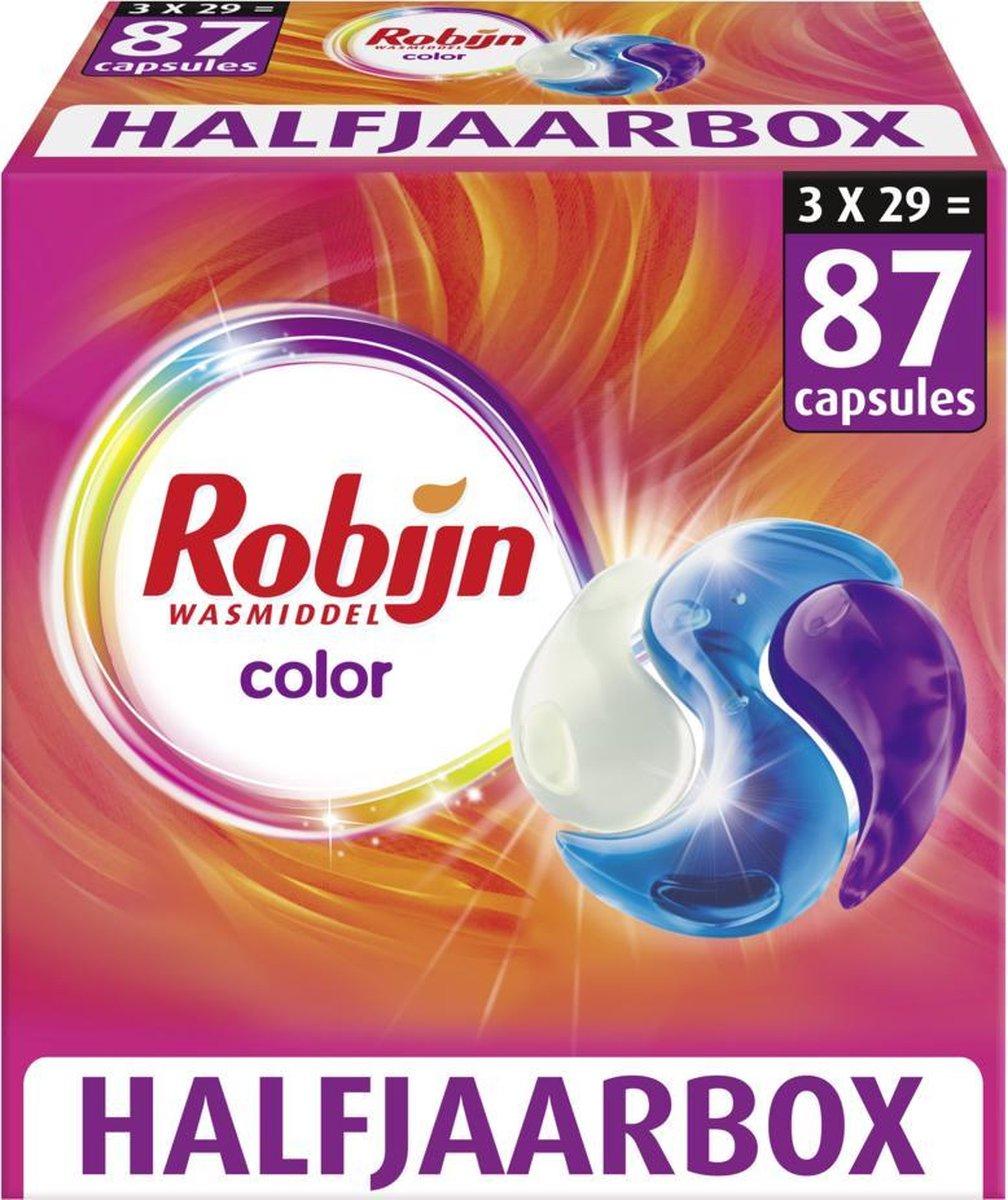 Robijn Color 3 in 1 Wascapsules - 3 x 29 wasbeurten - Halfjaarbox