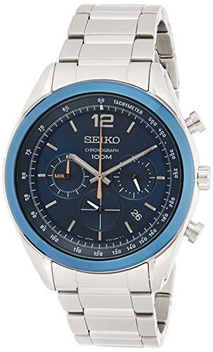 Seiko Heren Chronograph SSB091P1 Zilver/Blauw