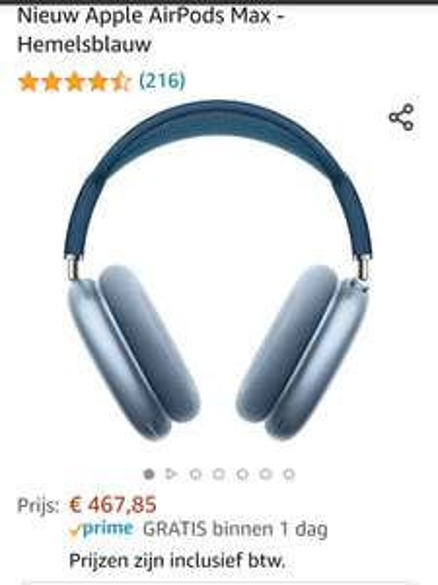 Apple AirPods Max - Hemelsblauw / Sky Blue