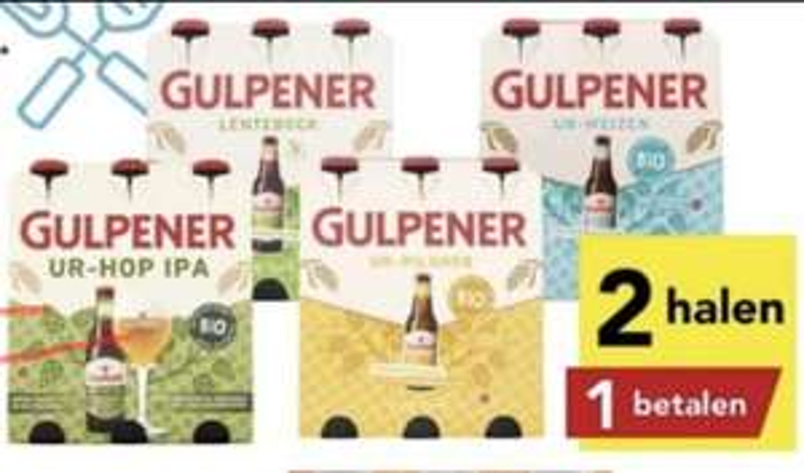 Alle sixpacks Gulpener 2 halen 1 betalen bij DEEN