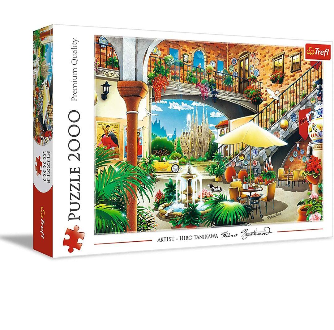 Trefl 27105, puzzel, uitzicht van Barcelona, 2000 stukjes