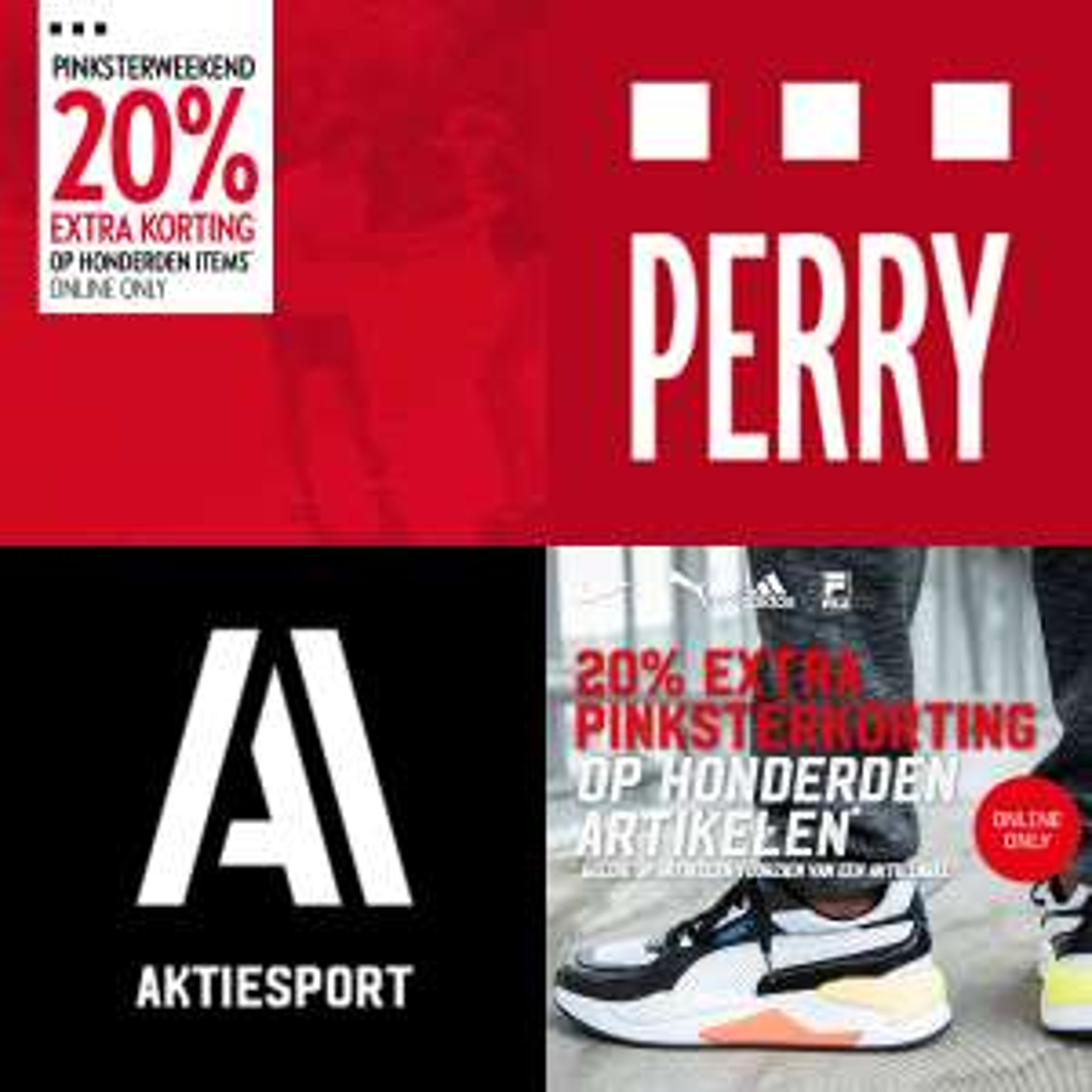 20% [extra] korting @ Perry / Aktiesport