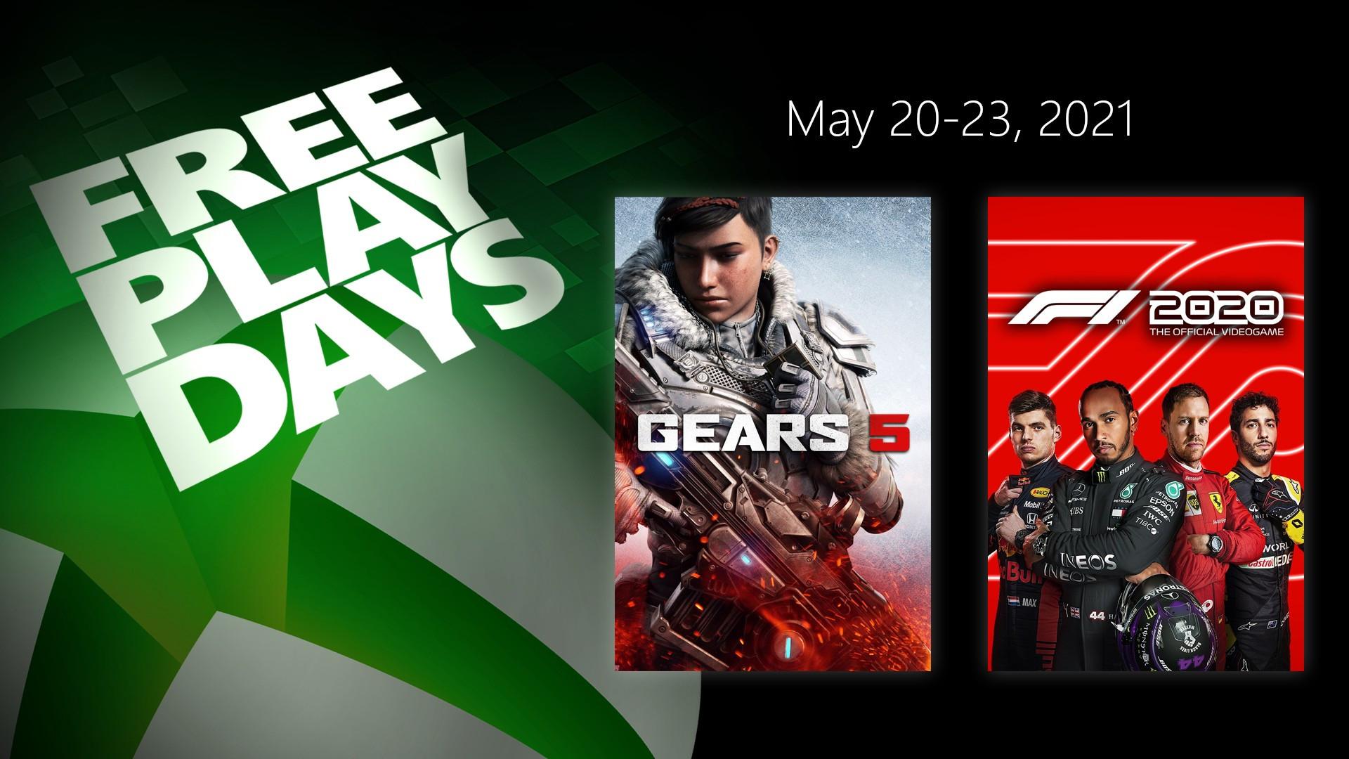 Gratis weekend Gears 5 en F1 2020 @ Xbox
