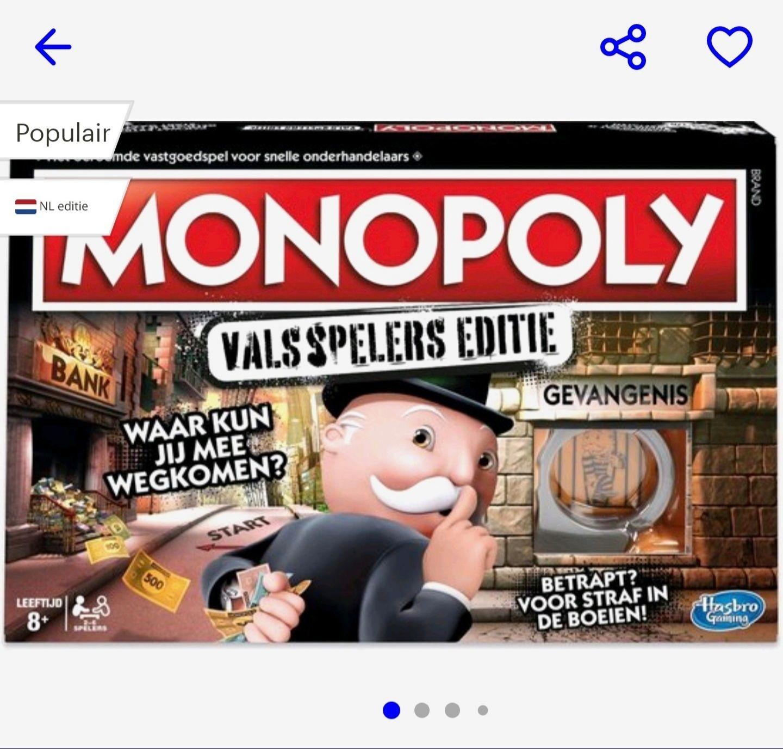 Monopoly Valsspelers Editie (NL) - Bordspel