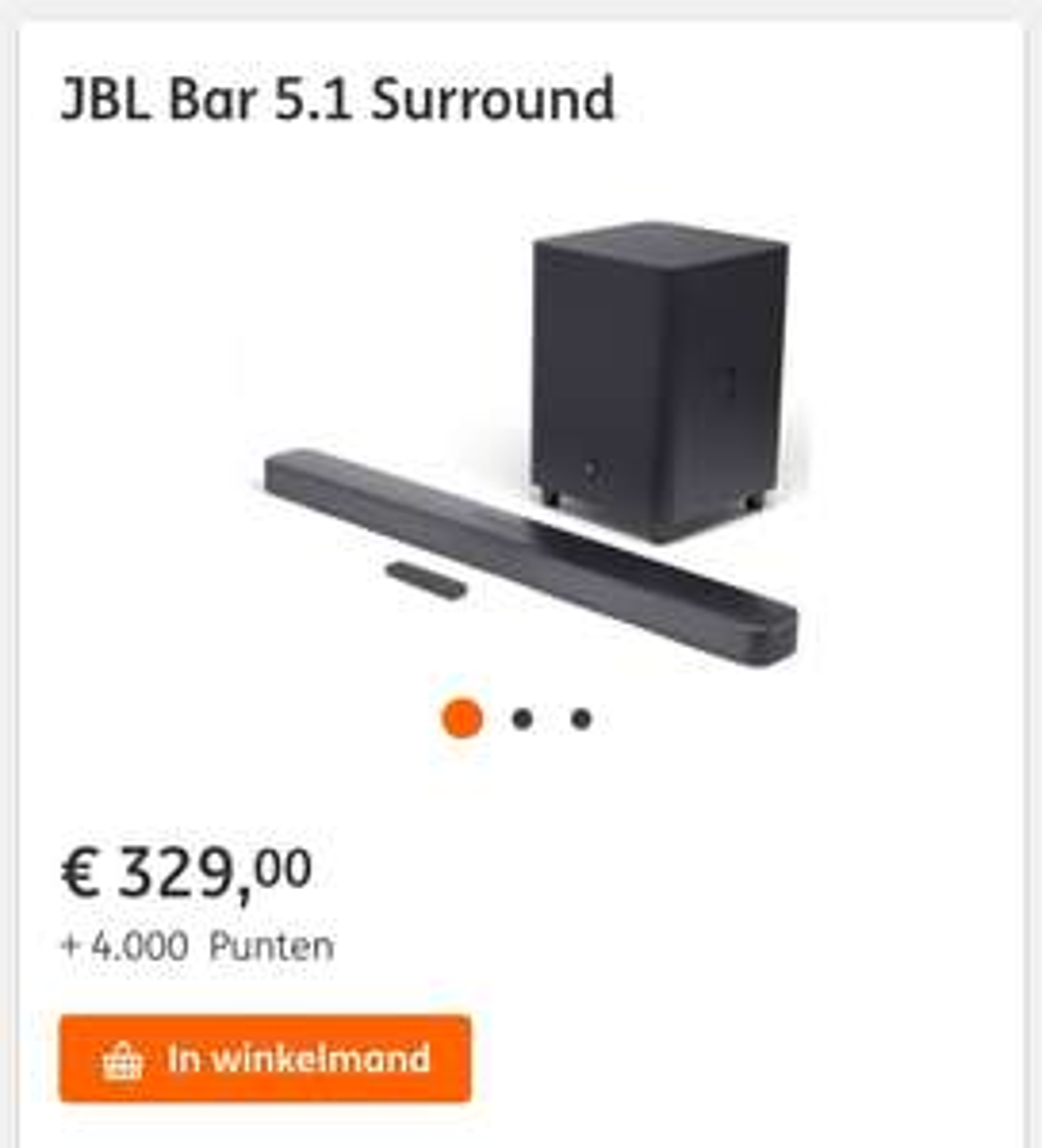 JBL 5.1 Bar Surround (weer op voorraad, icm ING punten)