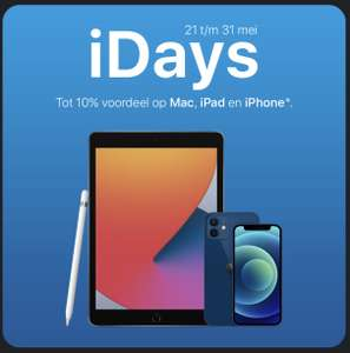Xando iDays tot 10% korting op Apple
