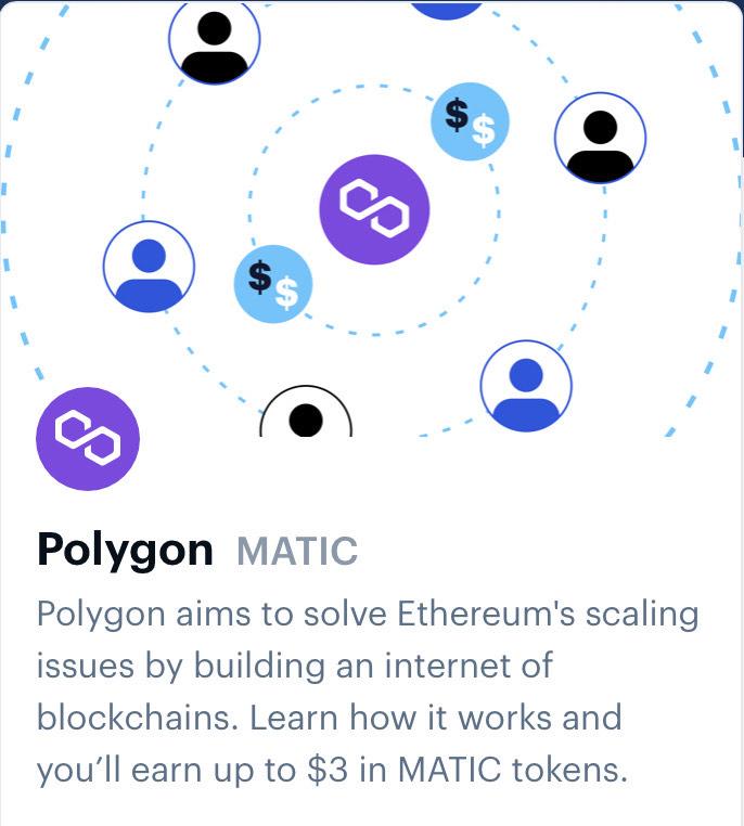 Coinbase Earn gratis Polygon (MATIC) Crypto munten