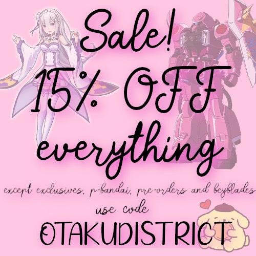 15% korting bij Otaku District