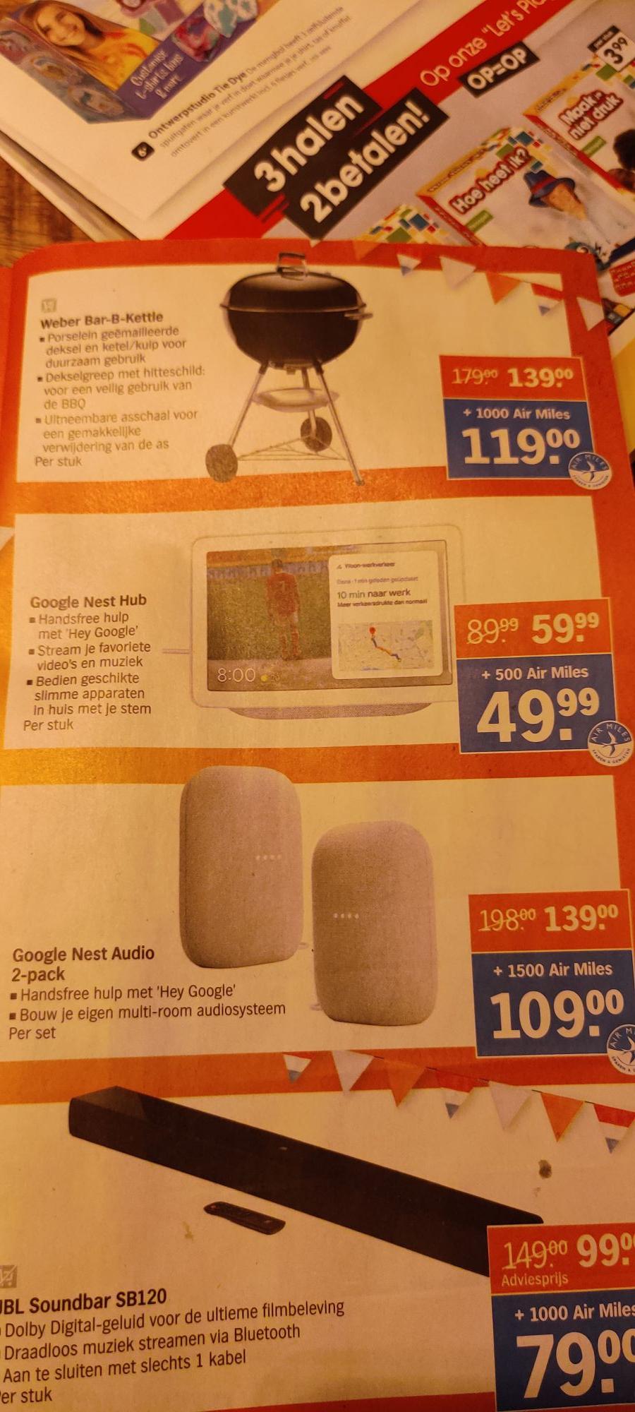 Google Nest Hub gen. 2 voor €59,99 @ Albert Heijn
