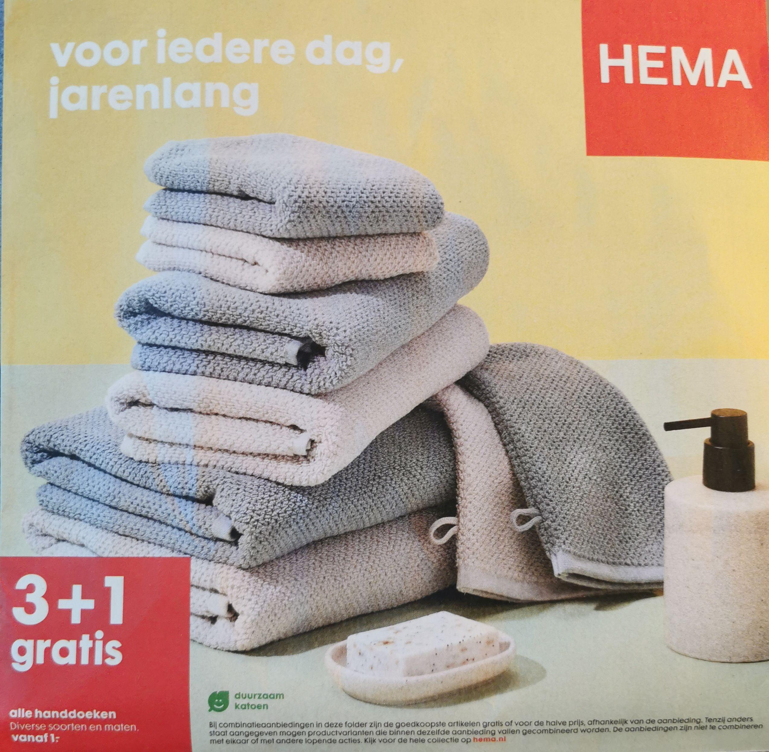 HEMA Handdoeken 3 + 1 gratis