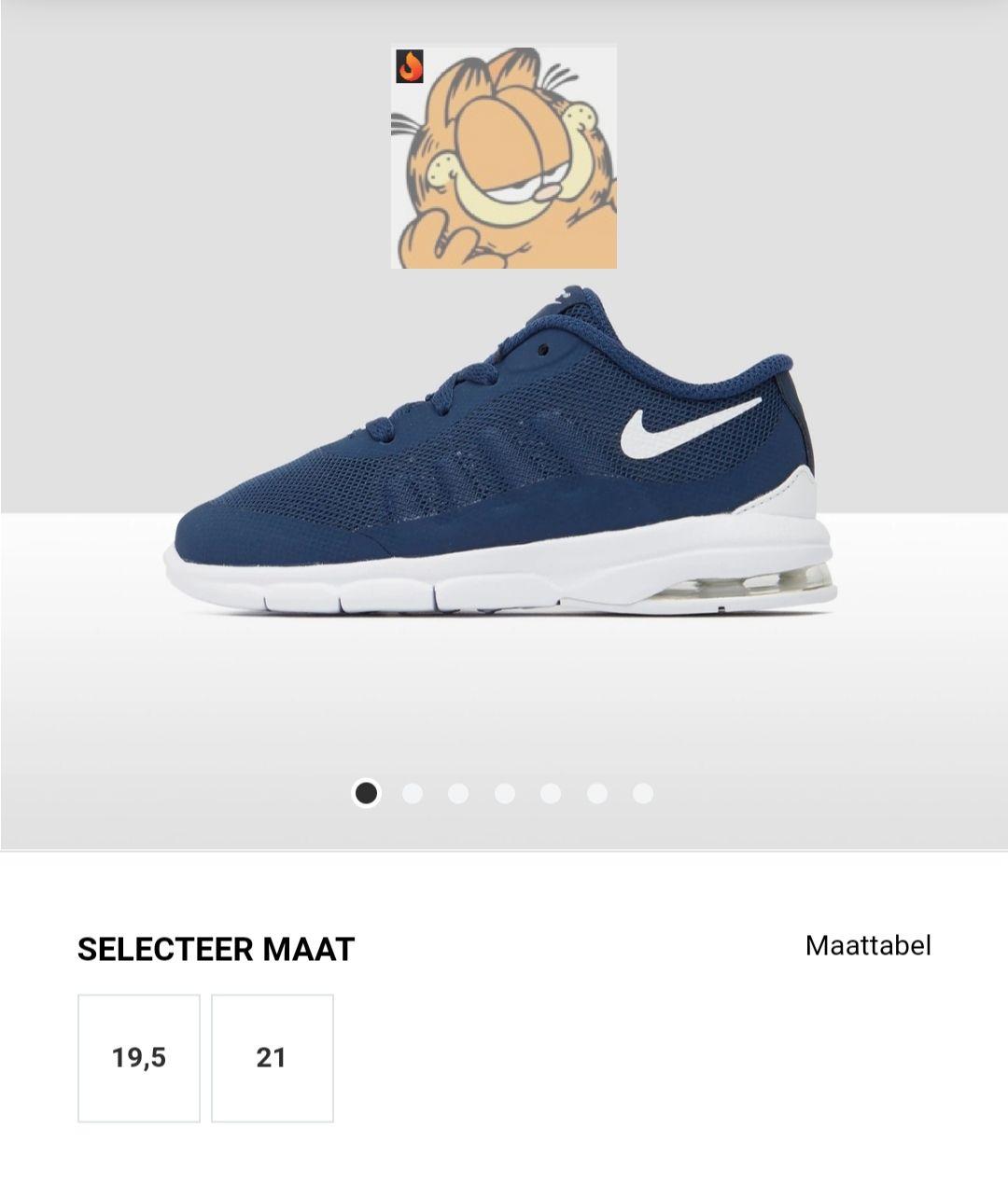 Nike Air Max Invigor Sneakers - Blauw Baby. Maat 19,5 en 21@ Perry Sport