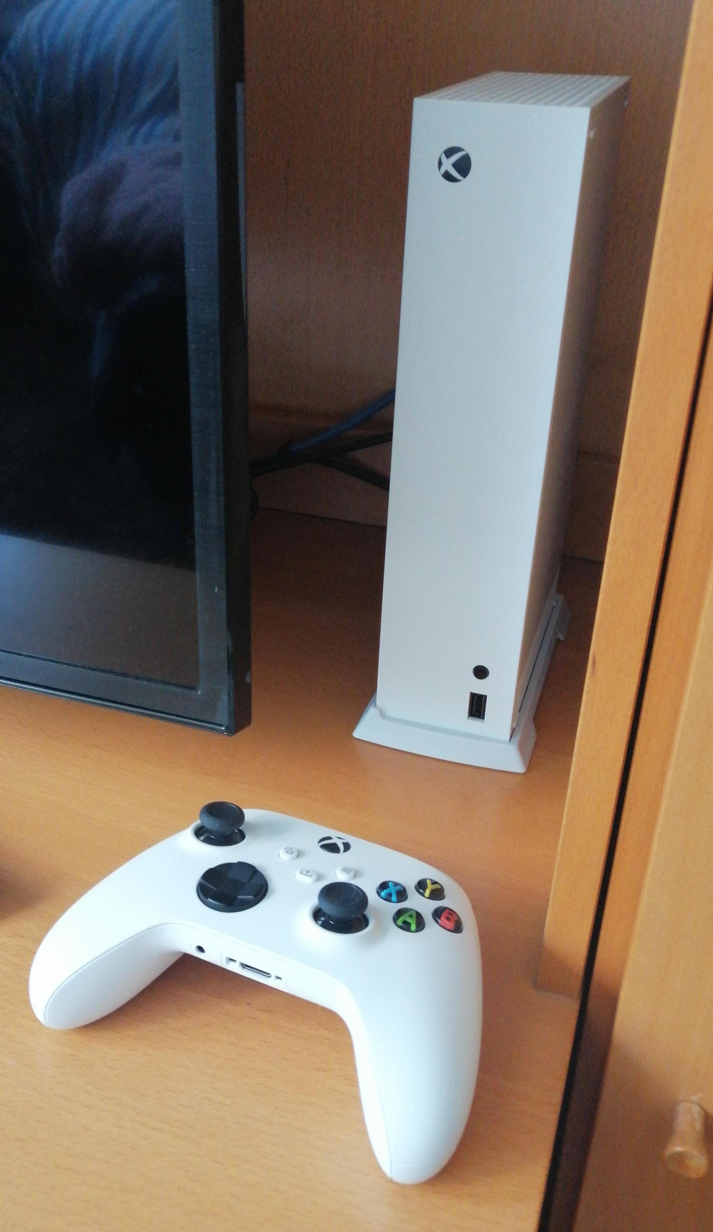 Xbox S Serie Verticale Stand Met Ingebouwde Ventilatieopeningen Wit/Zwart