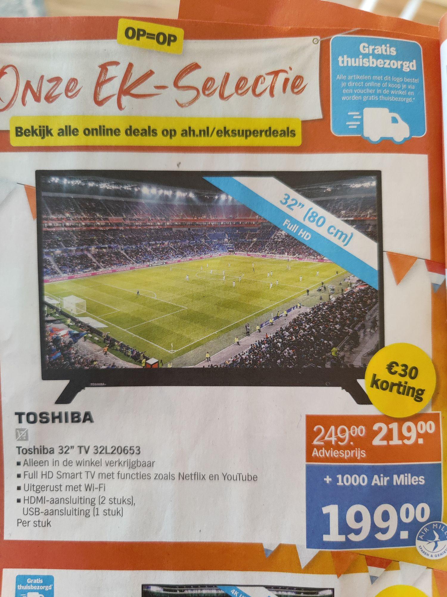 AH: Toshiba 32 inch full HD Smart tv