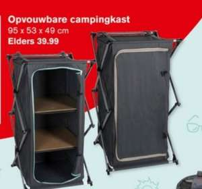 Hoogvliet Opvouwbare camping kast 19.99