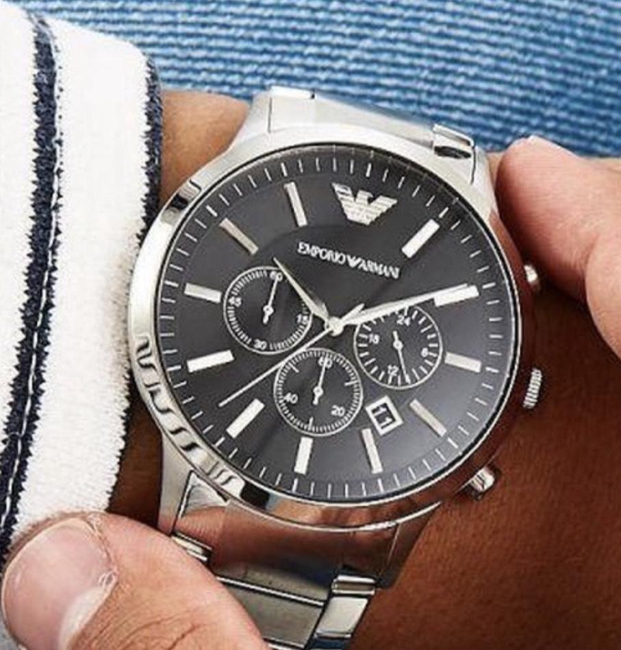 Emporio Armani Heren chronograaf horloge @ Amazon.nl