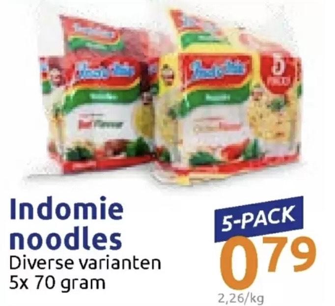 Indomie noodles 5-pak bij de Action Nederland