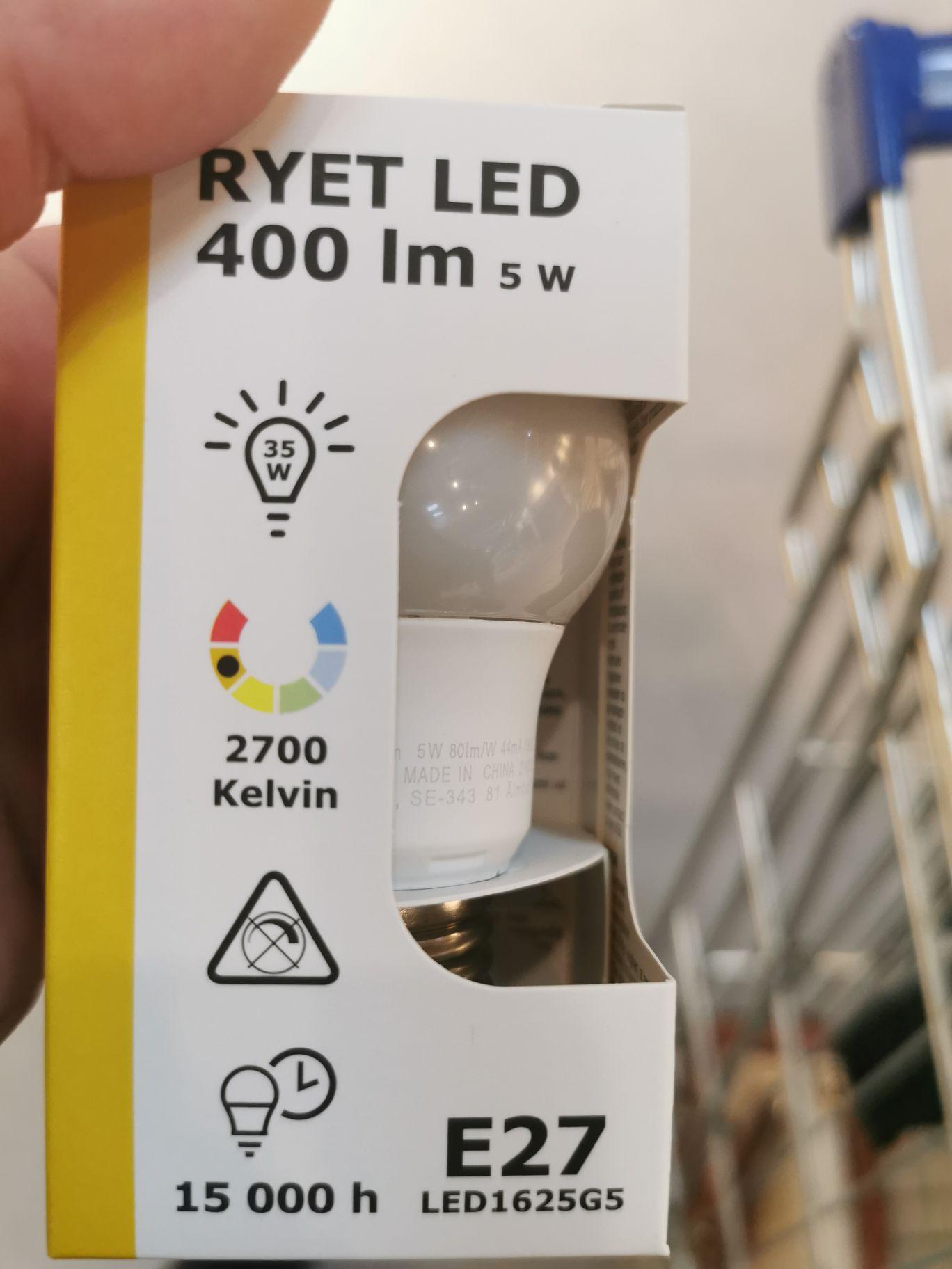 Ikea Led Lamp E27 400 lumen
